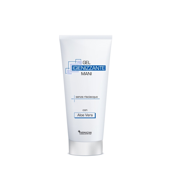 Gel igienizzante mani Farmazan. Tubetto da 75 ml.